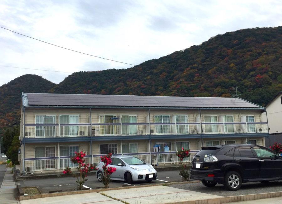 アパート屋上太陽光発電パネル設置工事